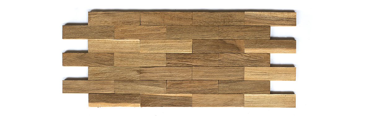 3D Recycled Teak Panel